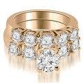 1.65 cttw. 14K Rose Gold Prong Set Round Cut Diamond Bridal Set - Thumbnail 0