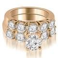 1.90 cttw. 14K Rose Gold Prong Set Round Cut Diamond Bridal Set - Thumbnail 0