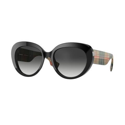 Burberry BE4298 37578G 54 Black Woman Cat Eye Sunglasses