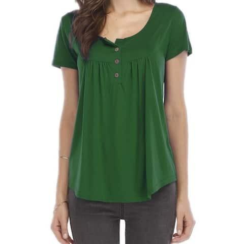 Short-Sleeved Buttoned T-Shirt