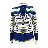 Tommy Hilfiger Women's Three-Pocket Striped Blazer