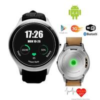 Indigi® (Factory Unlocked) 3G Smartwatch & Phone Android 4.4 KitKat OS + WiFi +  Google Maps + Built-In Camera - Silver