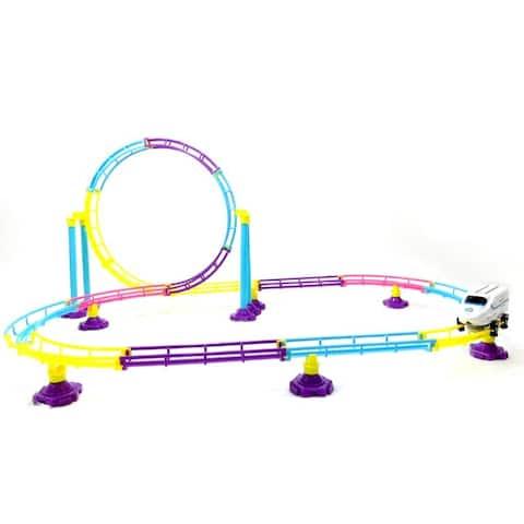 Roller Coaster Bullet Train Toy (77 Pcs)