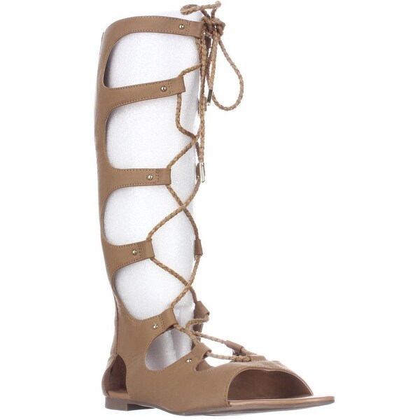 B35 Rayanne Mid Calf Gladiator Sandals, Tan