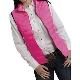 Roper Western Vest Womens Cute Quilted Pink 03-098-0685-0482 PI
