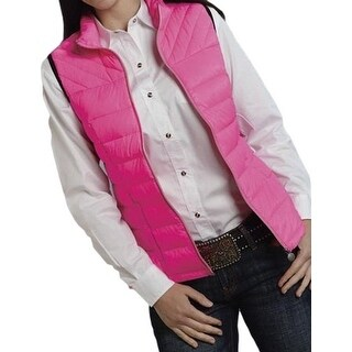 Roper Western Vest Womens Cute Quilted Pink