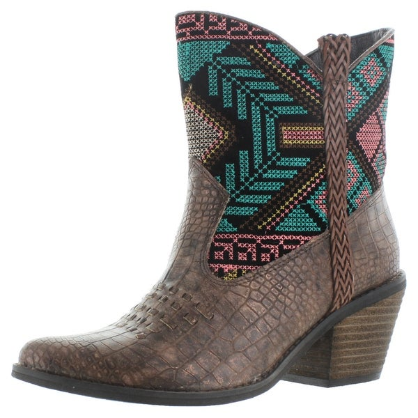 Very Volatile Festive Women's Ankle Western Boots