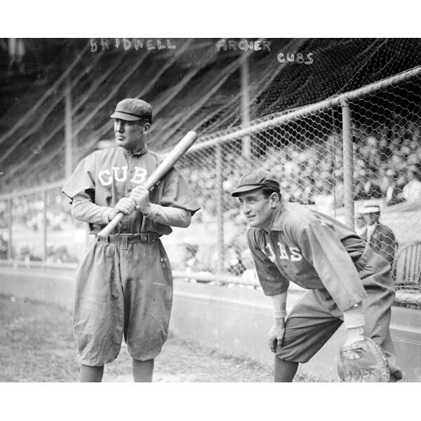 Al Bridwell & Jimmy Archer, Cubs - Vintage Photo (Cotton/Polyester Chef's Apron)