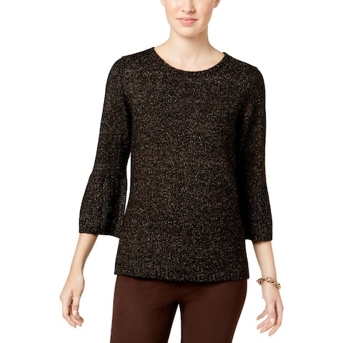 NY Collection Womens Sweater Knit Bell Sleeves