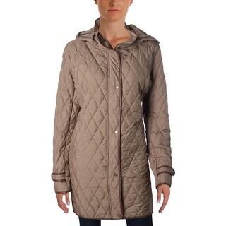 Lauren Ralph Lauren Womens Coat Hooded Quilted