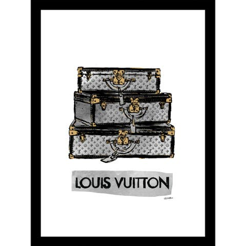 "Fairchild Paris - LOUIS VUITTON LUXURY TRUNKS - Framed Wall Art - 14"" x 18"""
