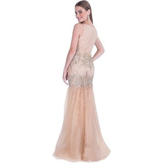 Terani Couture Lace Prom Semi-Formal Dress