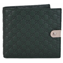 Gucci Men's 365478 Jolly Green Micro GG Guccissima Leather Bifold Wallet