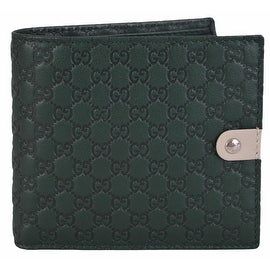 New Gucci Men's 365478 Jolly Green Micro GG Guccissima Leather Bifold Wallet