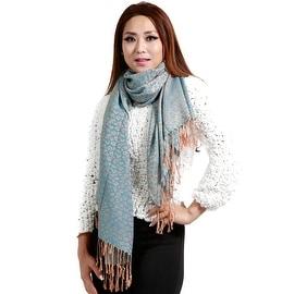 "Jacquard Knit Pashmina Wool Silk Fashion Wrap Scarf, 27""x70"", Mint"