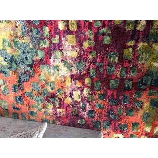 Safavieh Monaco Abstract Watercolor Pink/ Multi Distressed Rug (2'2 x 6')