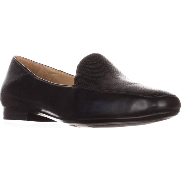 naturalizer Kate Comfort Loafers, Black Leather/Snake