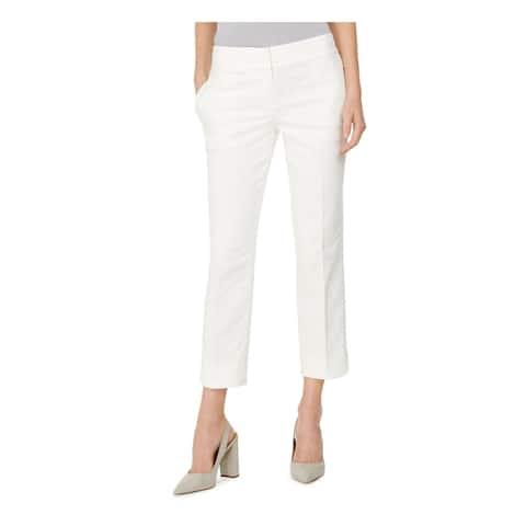 KASPER Womens Beige Floral Cropped Evening Pants Size 10