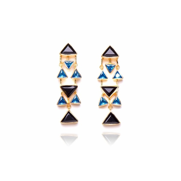 Carnegie Hall Drop Earrings in Black