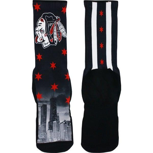 Rufnek Chicago Blackhawks Rep The Chi Socks