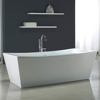 "Miseno MT7035FSR 70-1/16"" Soaking Bathtub for Free Standing Installations with C - White"