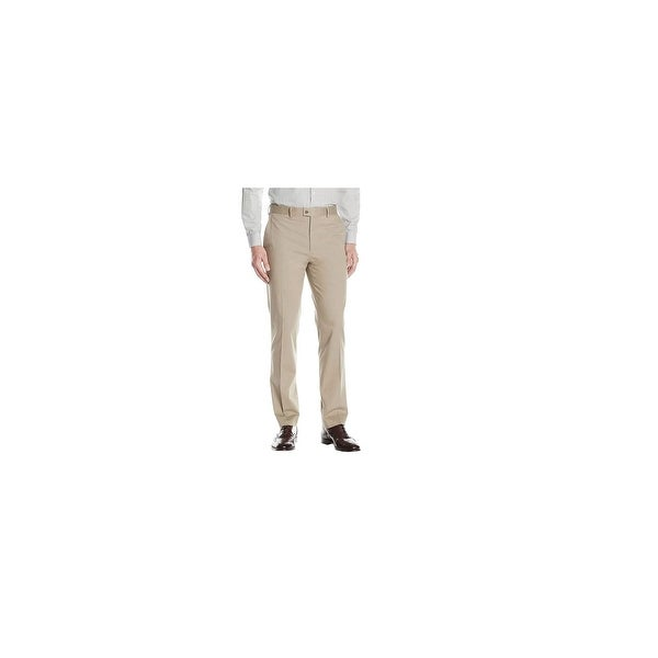 66617bce Lauren Ralph Lauren Men's Cobalt Solid Cotton Pants Tan Size 36