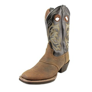Justin Boots Stampede Western    Square Toe Leather  Western Boot