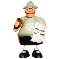 """Pack of 2 NCAA Texas A&M Aggies Football Metal """"12th Man"""" Bouncer Buddies"""