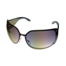 Esprit Womens Sunglass 19262 538 Black Metal Avaitor, Smoke Gradient Lens
