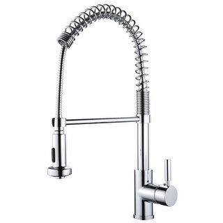 Miseno MK281 Mila Commercial Style Pre-Rinse Kitchen Faucet - Includes Lifetime Warranty and Decorative Deck Plate