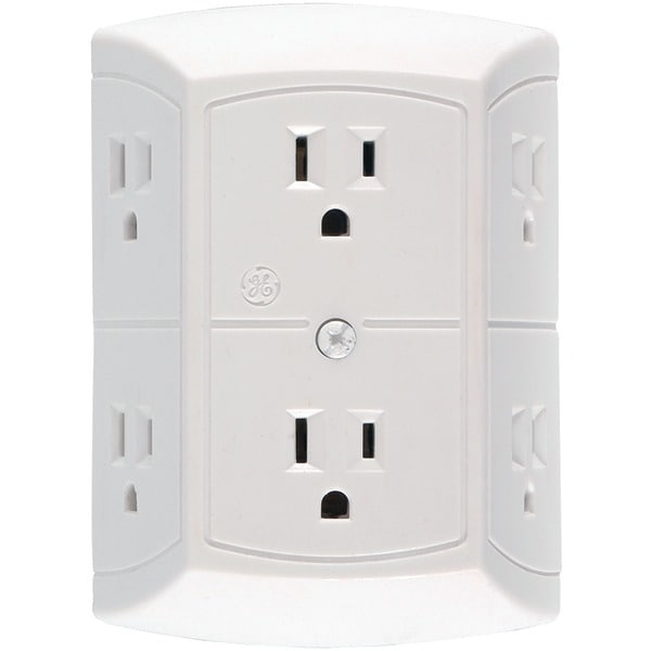 Ge Jashep50759 6-Outlet In-Wall Adapter