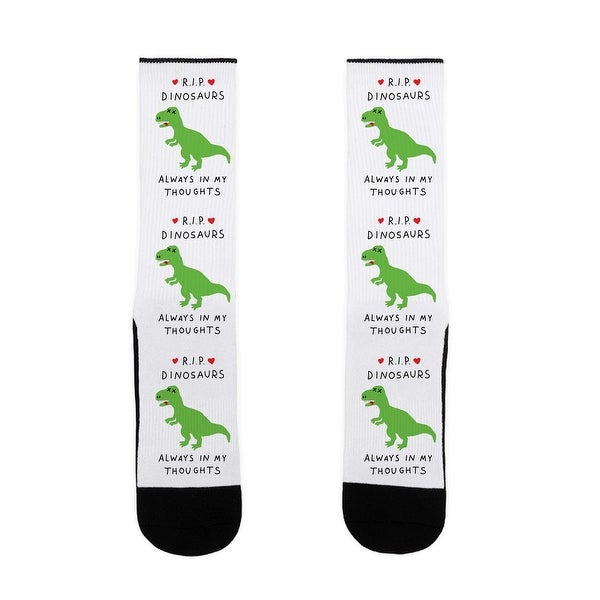 RIP Dinosaurs US Size 7-13 Socks by LookHUMAN