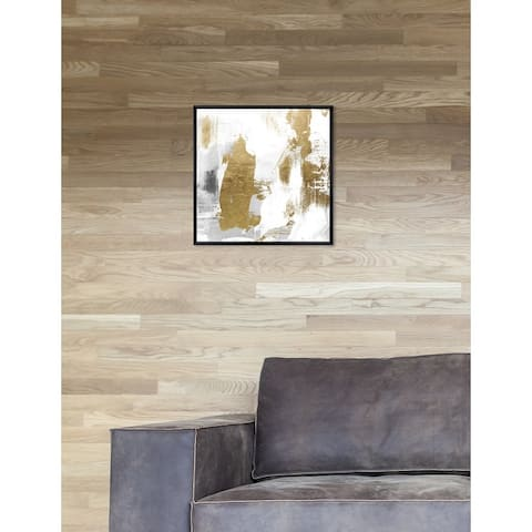Oliver Gal 'Dash of Gold Square' Abstract Framed Wall Art Print