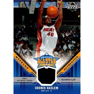 Signed Haslem Udonis Miami Heat Udonis Haslem 200506 Upper Deck AllStar Weekend Authentics Unsigned