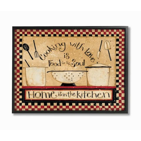 Stupell Industries Cooking With Love Traditional Family Kitchen Phrase Framed Wall Art - Multi-Color