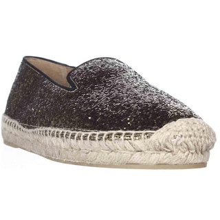 Marc by Marc Jacobs Space Glitter Espadrille Loafer Flats - Black Gold