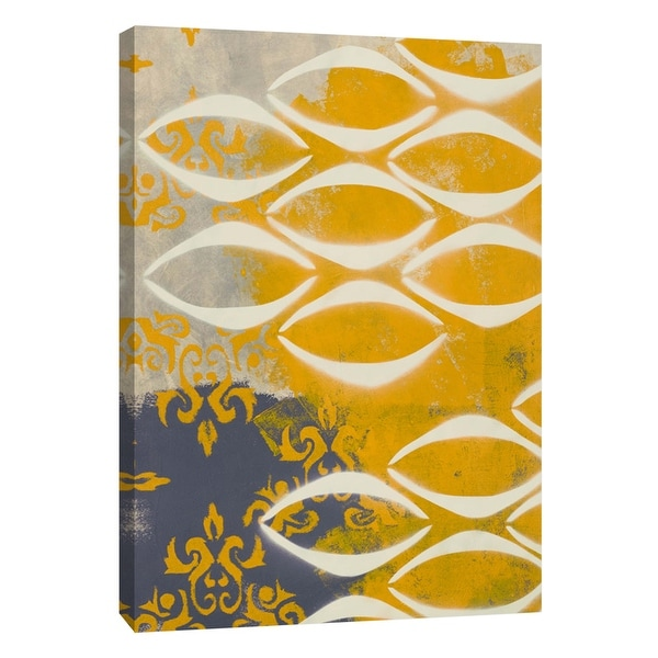 """PTM Images 9-108925 PTM Canvas Collection 10"""" x 8"""" - """"Yellow Pintura 3"""" Giclee Abstract Art Print on Canvas"""