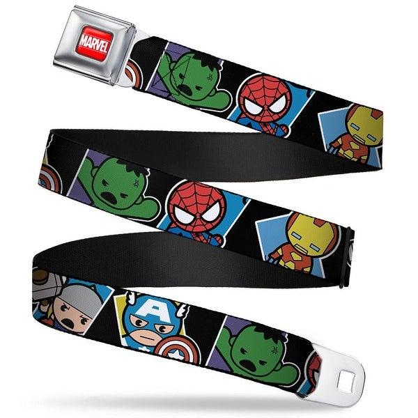 Marvel Universe Marvel Full Color Red White Mini Avengers Action Poses Seatbelt Belt