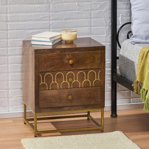 Croydon Contemporary Wooden Night Stand by Christopher Knight Home