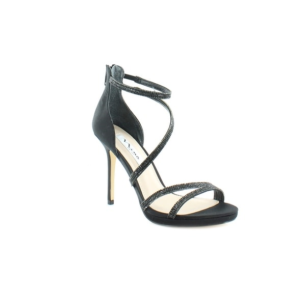 Nina Reed Women's Sandals & Flip Flops Black - 7.5