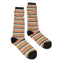 Missoni GM00CMD5218 0003 Green/Tan Striped Boot Socks - M