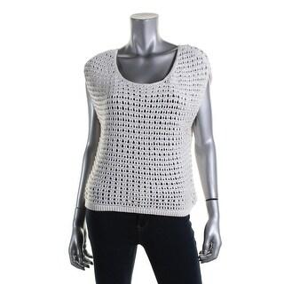 Kiind Of Womens Charlotte Open Stitch Embellished Sweater