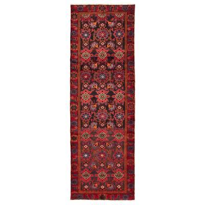 "Hand-knotted Caucasus Kula Red Wool Rug - 3'1"" x 9'5"" Runner"