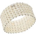 D'AMA Women's Pearl Bracelet - Easy-On Stretch 5 Strand With Stainless Steel Spacer Beads - Thumbnail 2