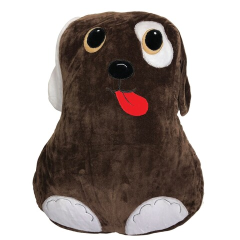 Comfort Companion Snuggly Puppy Pet Pillow - Stuffed Animal Cushion with Storage Pocket for Kids - 13 in. x 3 in. x 16 in.