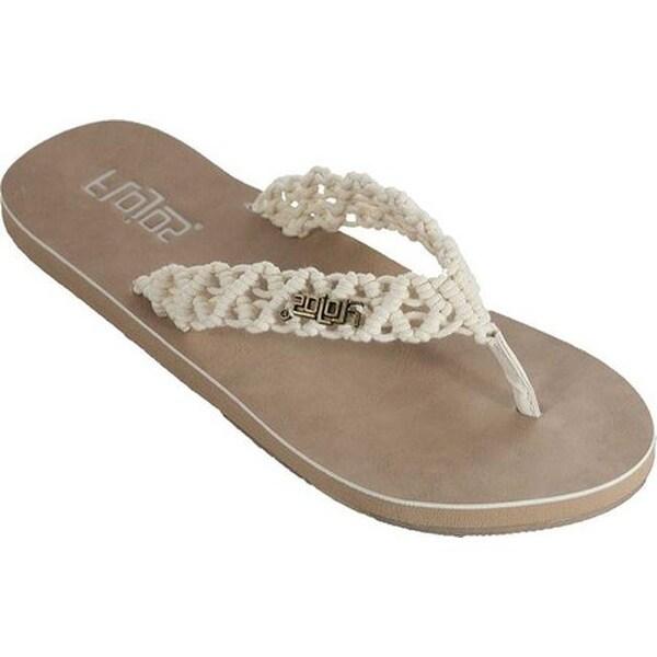 c89ca27496e1 Shop Flojos Women s Aura Macrame Thong Sandal Natural Cotton Macrame - Free  Shipping On Orders Over  45 - Overstock - 25594572