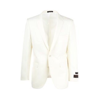Sangria White Modern Fit, Pure Crepe Wool Jacket by Tiglio Luxe FJ2209/1