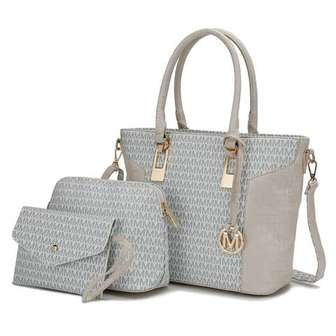 Mkf Collection Shonda 3Pc Tote With Cosmetic Pouch & Wristlet By Mia K