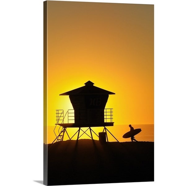 76a1424b0c2 Shop Premium Thick-Wrap Canvas entitled Lifeguard tower - Multi ...