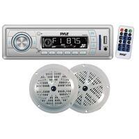 Pyle Marine In-Dash Stereo Receiver & Speaker Kit, Digital AM/FM Radio System